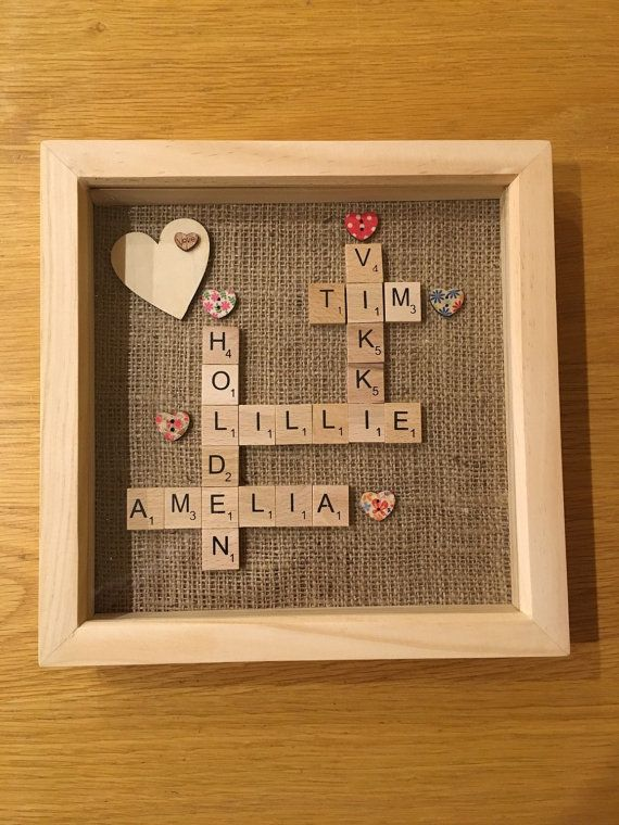 Check out this item in my Etsy shop https://www.etsy.com/uk/listing/270048928/scrabble-letter-tile-art-box-frame