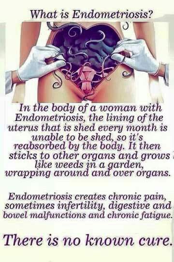 Endometriosis- for those who don't understand what it is... trust me, you don't want to know.