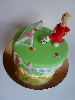 Girly soccer cake