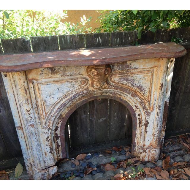 Image Of Architectural Cast Iron Fireplace Surround Mantel