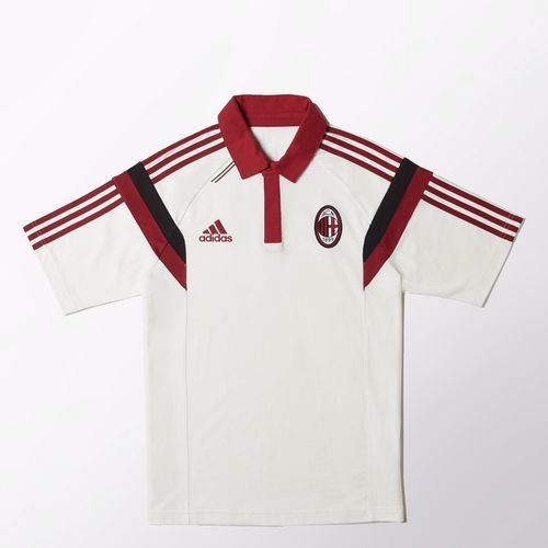 ac milan training polo white AC Milan Official Merchandise Available at www.itsmatchday.com