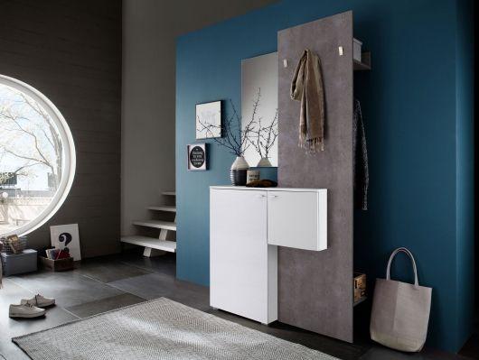ZARAH Komplett Garderobe weiss/Beton