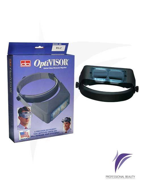 Optivisor – Lupa Portátil: El optivisor es una lupa binocular con diadema de precisión que permite la eficiencia visual. Deja las manos libres, es utilizado por cualquier persona cuya profesión u oficio requiere un trabajo con precisión.