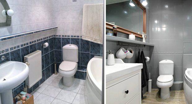 Metamorfoza łazienki za 2200 zł - przed i po.