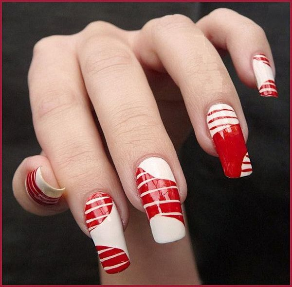 18 best christmas nail designs images on pinterest french french nail art trends for christmas 2012 prinsesfo Image collections