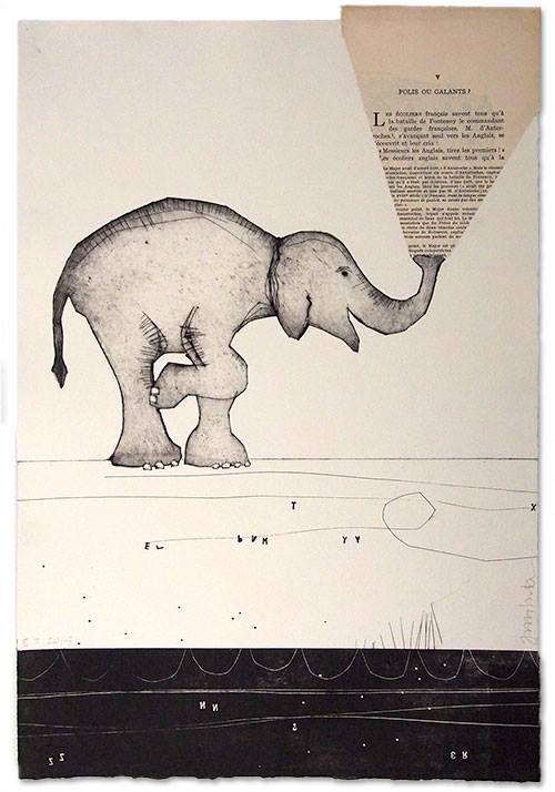 Collografi - printmaking - chine collé