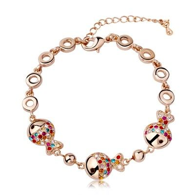 T400 Genuine Swarovski Elements Crystal Bracelet Valentine's Day gifts colorful clownfish female