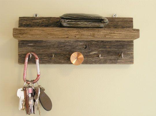 DIY Key Rack Furniture Pinterest Keys Barn Wood