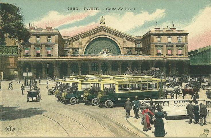 La gare de l'Est vers 1910 (carte colorisée) (Paris 10ème)