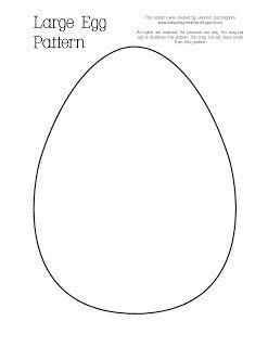 Large, medium and small printable eggs