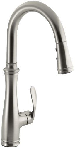 Kohler K 560 VS Bellera Pull Down Kitchen Faucet, Vibrant Stainless Steel