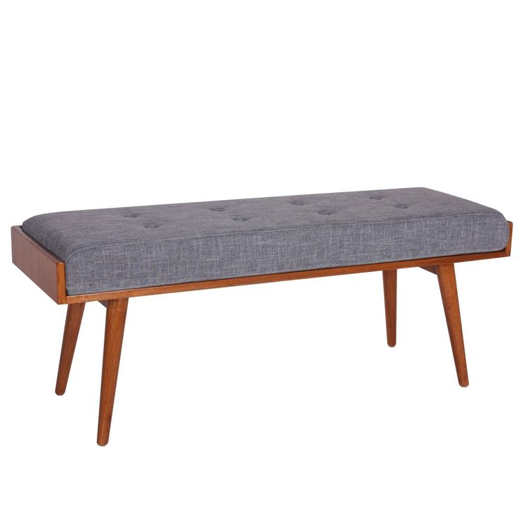 Add Mid-century style to your home with the Aysel Accent Bench from Porthos Home.