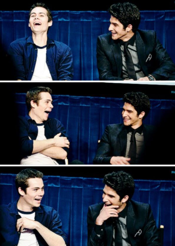 This is so adorable - Dylan O'Brien and Tyler Posey