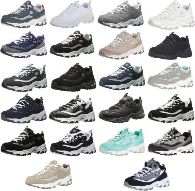 Skechers D'Lites Memory Foam Sport Lightweight Women's Sneakers Shoes 26 Colors
