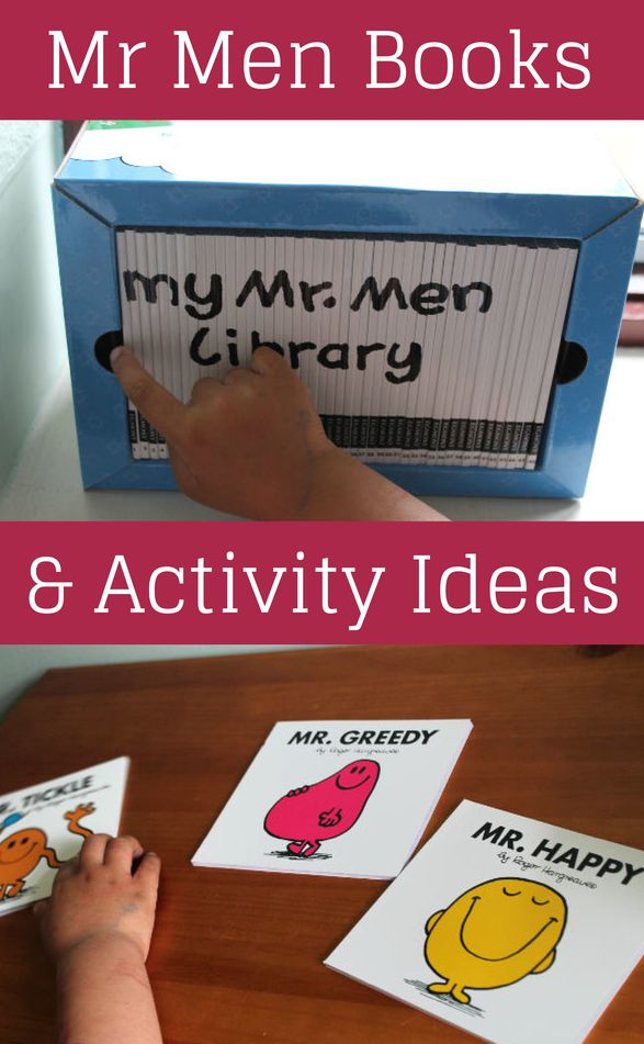 Mr Men books and ideas for Mr Men activities and crafts