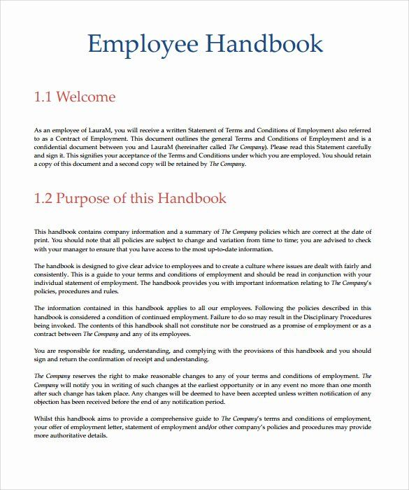 Policy Manual Templates 6 Free Printable Word Pdf Free Word Document Standard Operating Procedure Template Templates