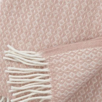 Plaid en laine Rumba - rose cloud (rose) - Klippan Yllefabrik