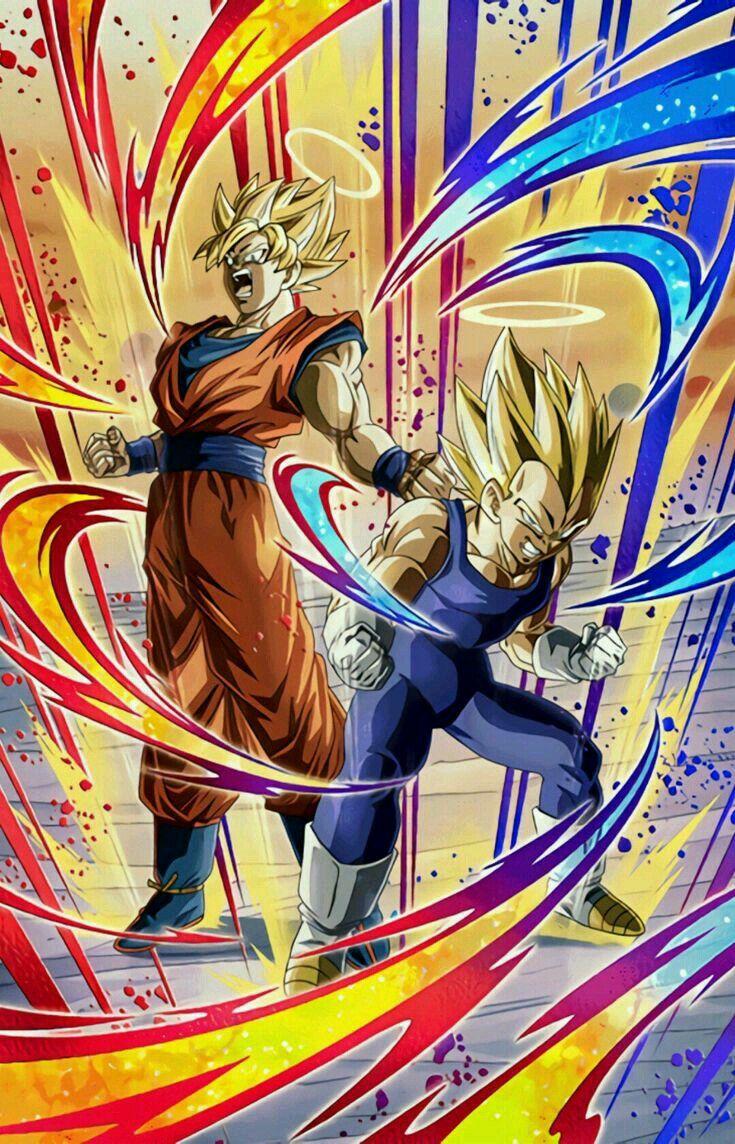 Goku E Vegeta Ssj Carica Massima Goku Y Vegeta Peleando Dibujos Dragones