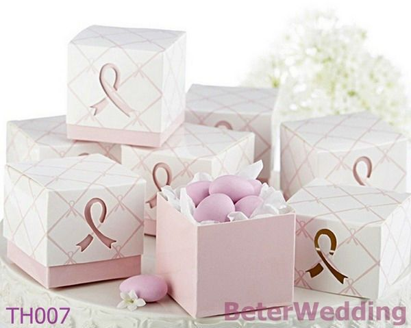 60pcs Pink Ribbon Wedding Candy Bags BETER-TH007 http://shop72795737.taobao.com   #weddingfavorboxes #weddinggifts #weddingdecoration