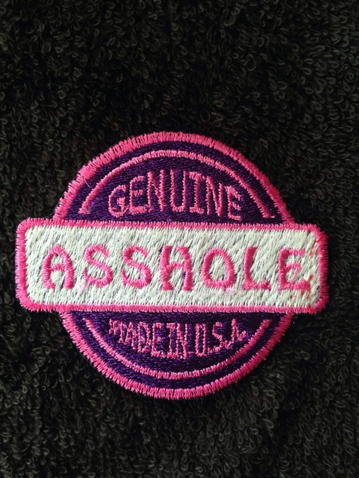 Custom patch motorcycle Harley jacket Asshole USA adult humor embroidery color honda buell motorbike bike leather vest Biker by LaurynandLuca on Etsy