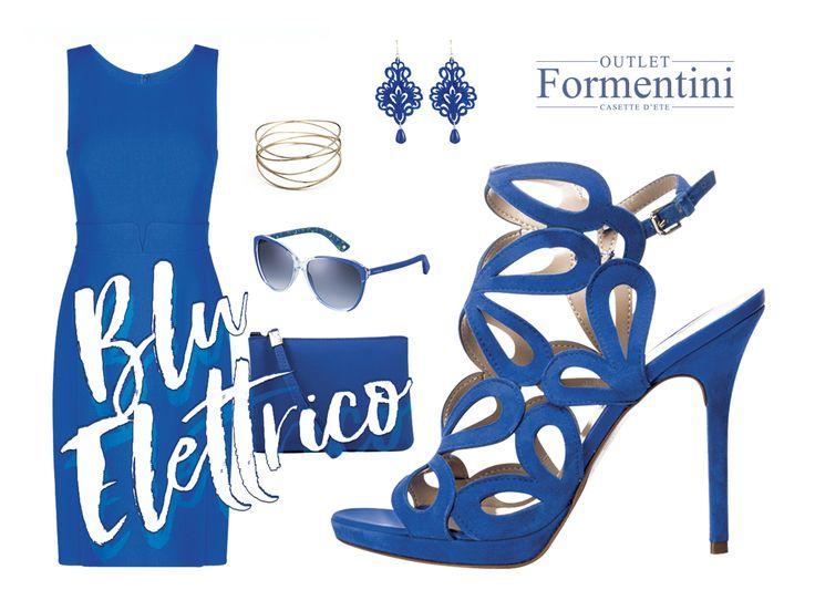 Un outfit tutto Blu Elettrico con un cage sandal by Formentini!