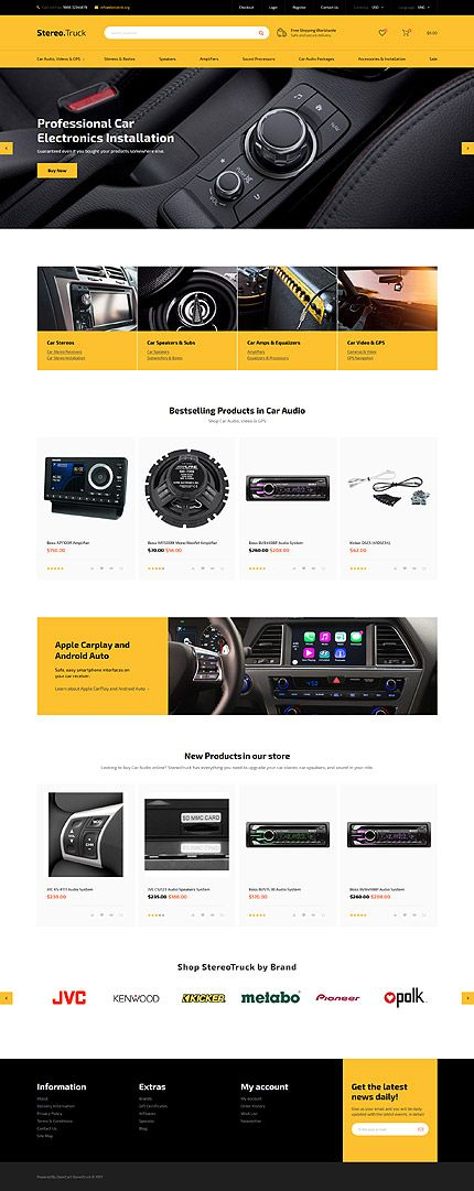 Car Parts Online Store website inspirations at your coffee break! Browse for more OpenCart #templates! // Regular price: $89 // Sources available: .PSD, .PNG, .PHP, .TPL, .JS #Car #Shop #Store #Shopping #LastAdded #OpenCart