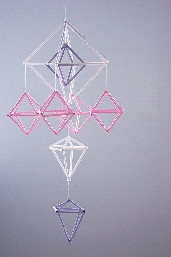 DIY: Himmeli // Mobile via blog.DaWanda.com