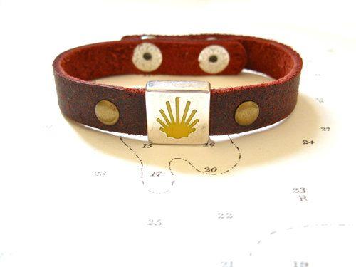 Camino de Santiago Way of St James charm bracelet - leather, £19.00
