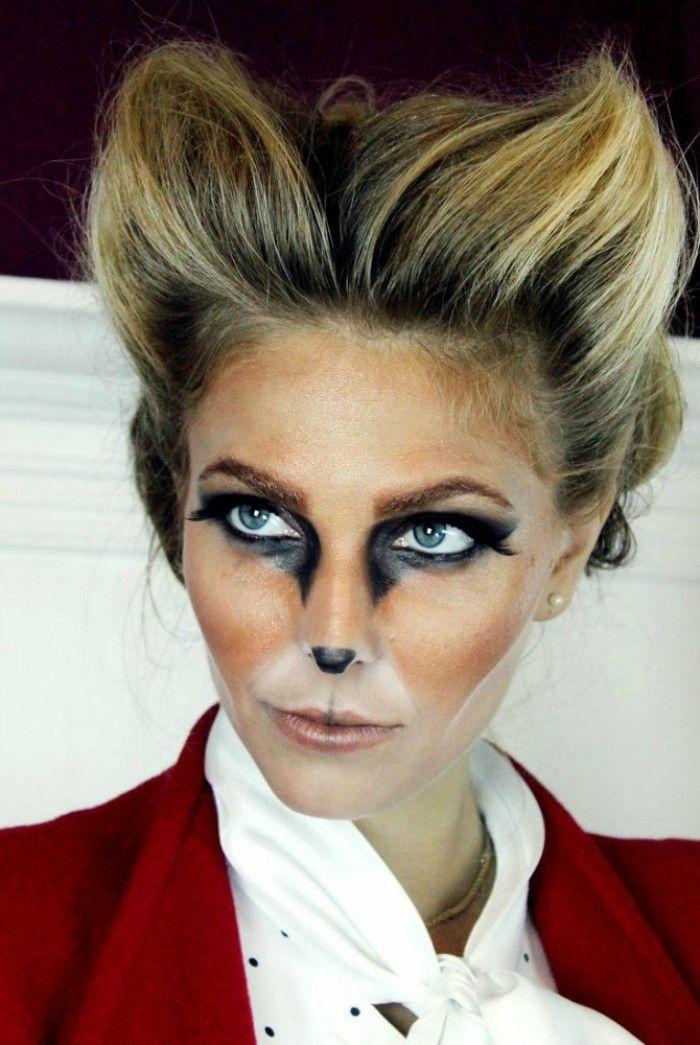 Mit ganz viel Haarspray und dieser Schmink Vorlage kann man noch ganz schnell ein Faschings Kostüm zaubern. Tolles Faschings Kostüm als Fuchs. Noch mehr Ideen gibt es auf www.Spaaz.de
