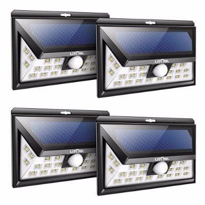 11 best top 10 best solar spot lights reviews in 2018 images on litom 24 led solar lights outdoor super bright motion sensor lights aloadofball Image collections