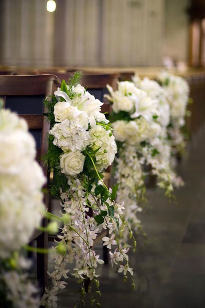 36 Breathtaking Church Wedding Decorations