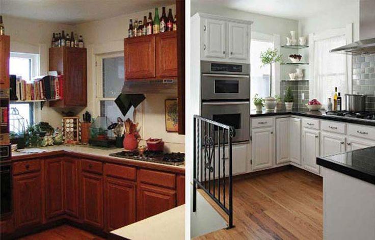 Relooking maison et décoration à moindre frais d'une cuisine un peu vieillotte