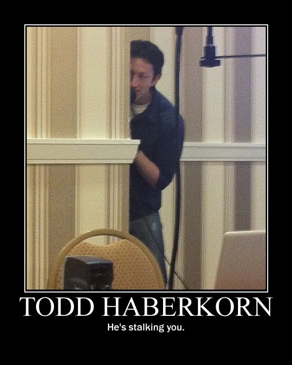 Todd Haberkorn is a stalker by otakuwannabe.deviantart.com on @deviantART