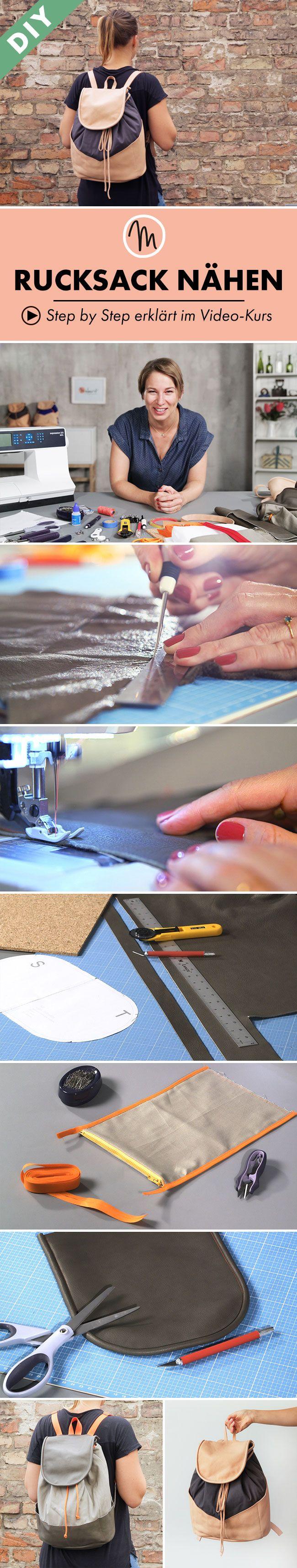Mit deiner Haushaltsnähmaschine einfach deinen eigenen Rucksack für jeden Anlass nähen - Step by Step erklärt im Video-Kurs via Makerist.de