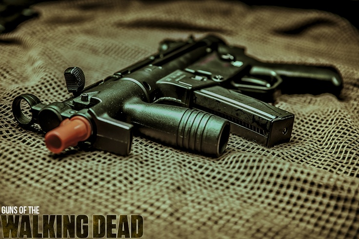 AirSplat's Guns of The Walking Dead! Well MP5K G55 Gas GBB Airsoft ...