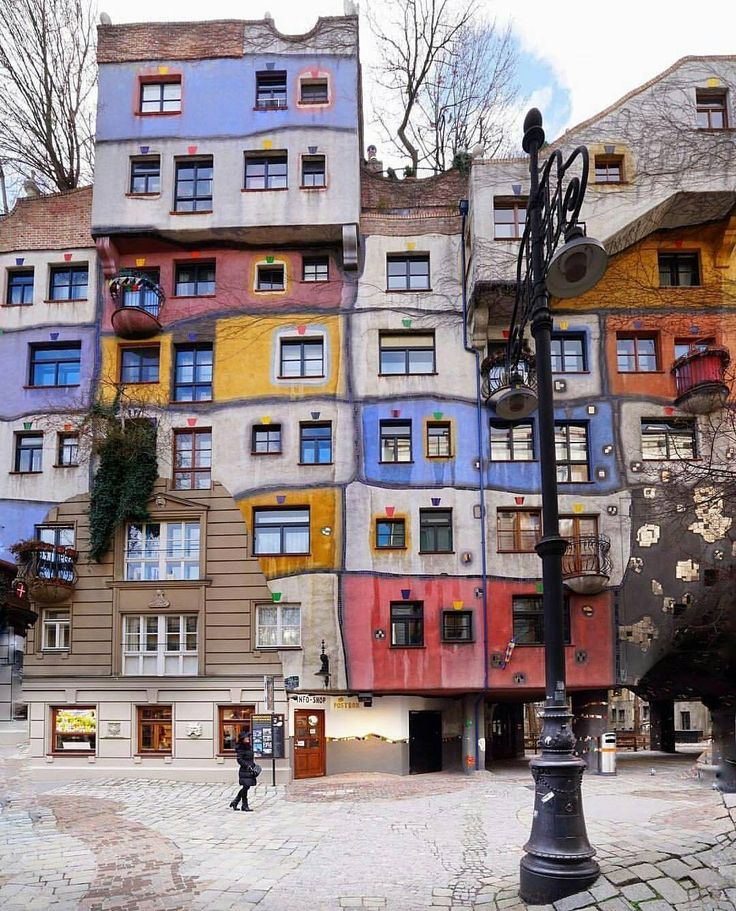 """46.6k Likes, 282 Comments - Living Europe (@living_europe) on Instagram: """"Colorful architecture of Hundertwasserhaus ~ Vienna, Austria Photo: @mehmetsert Congrats! TAG…"""""""