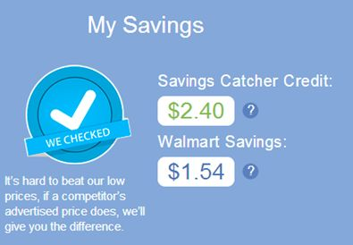 Breakdown of what i ve already saved with walmart savings catcher