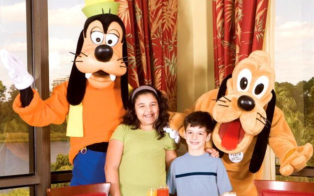 Disney Character Breakfast at the Wyndyham LBV Resort Hotel. Great Place - Right across the street from Disney Market Place at Downtown Disney.
