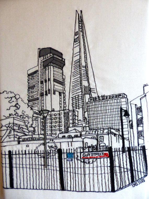 View of the Shard and Guy's tower London SE1 England by lemonyjen