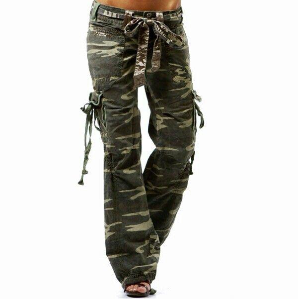 Fantastic Women Clothing Winter Thicken Pants Women39s Camo Black Cargo Pants