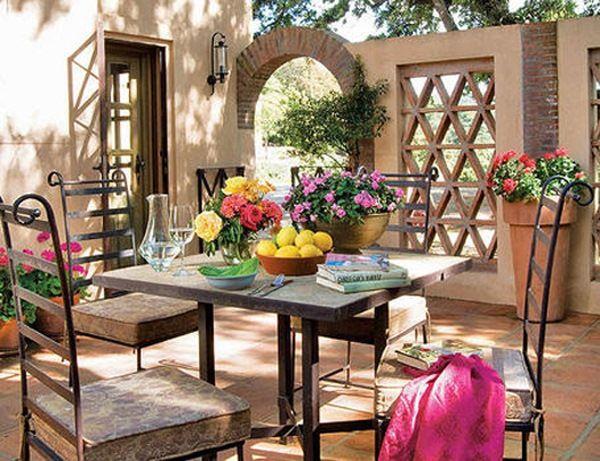 11 Terasa Casa Spaniola In Stil Rustic Mobilier Din Fier Forjat Hauser Im Spanischen Stil Haus Im Spanischen Stil Spanischer Stil
