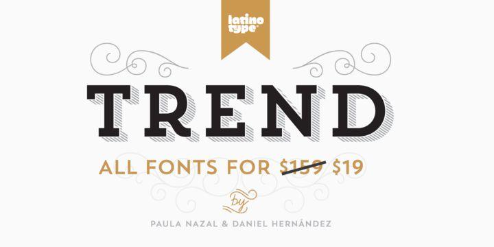 Trend - Webfont & Desktop font « MyFonts