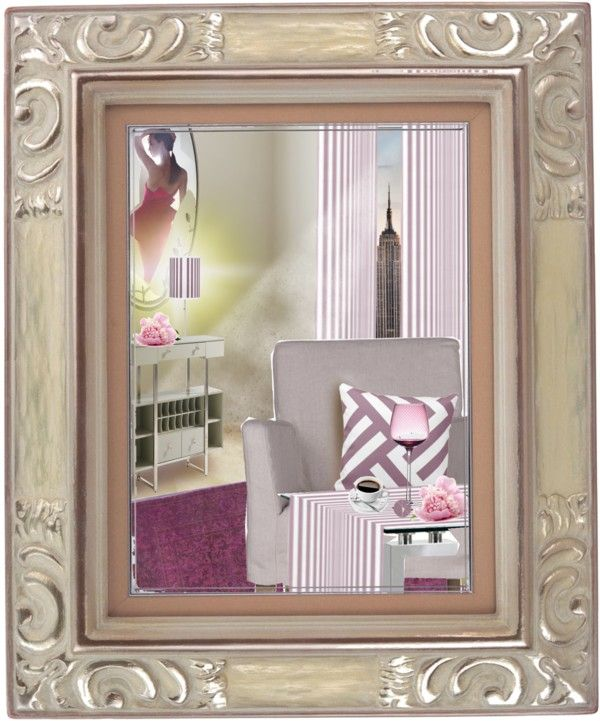 Room With a Mirror by fallforit on Polyvore table accessories by #KBMD3signs that are available at #zazzle   http://www.zazzle.com/fallforit*?tc=pin