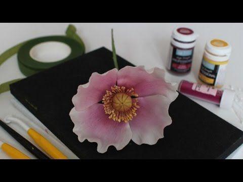 Цветы из мастики. Сахарные цветы: мак. - YouTube