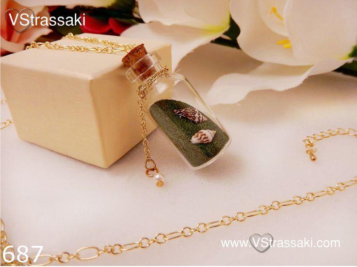 Κωδικός: 687 - 8.85 €. Κολιέ με μπουκαλάκι και κοχύλια. Για παραγγελία: ▶ Μέσω φόρμας : http://www.vstrassaki.com/#!form/v0sut ▶ Μέσω e-shop : www.vstrassaki.com ▶ Με SMS στο 6988288107 όπου μας στέλνετε ονοματεπώνυμο, διεύθυνση και τον κωδικό ή τους κωδικούς που σας ενδιαφέρουν.      #ΜΕΝΤΑΓΙΟΝ         #ΜΟΔΑ         #ΚΟΣΜΗΜΑ         #ΚΟΣΜΗΜΑΤΑ         #ΚΟΛΙΕ         #ΜΠΟΥΚΑΛΑΚΙ         #ΚΟΧΥΛΙΑ         #VSTRASSAKI