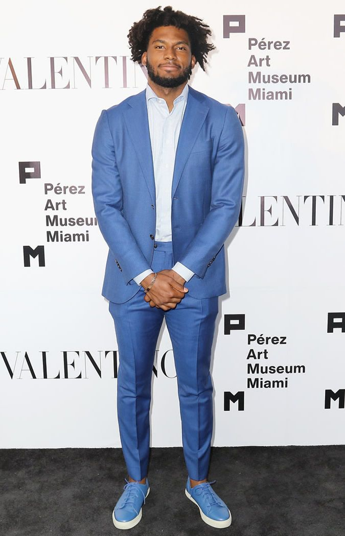 The Best Dressed Men Of The Week: Justise Winslow at the PAMM Art Of The Party Presented By Valentino, Miami. #bestdressedmen # justisewinslow