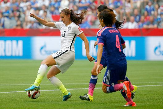 Alex Morgan vs. Japan, World Cup final, July 5, 2015. (Kevin C. Cox/Getty Images)