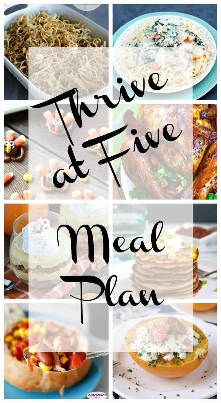 Thrive at five weekly meal plan! ArtFromMyTable.com