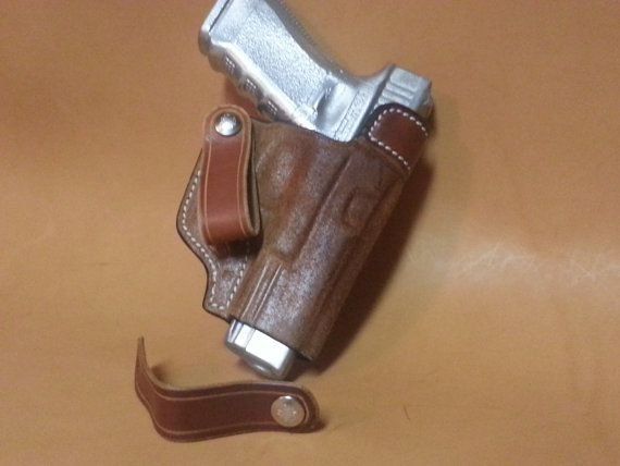 Glock 19 IWB Holster Full Grain Leather by MartinCustomLeather
