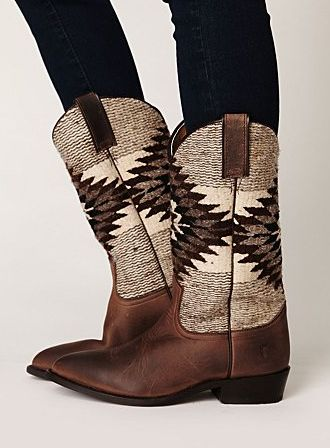 Frye for Free People blanket boots.